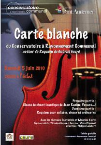 Carte blanche au C.R.C. avec la Chorale Cantarisle